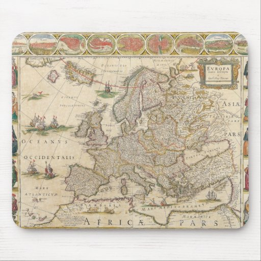 Map of Europe 6 Mousepad