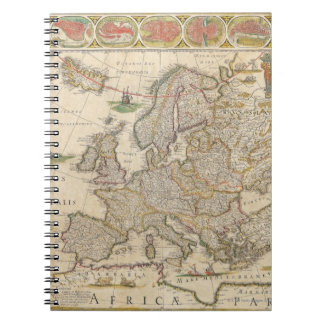 Map of Europe 6 Notebooks