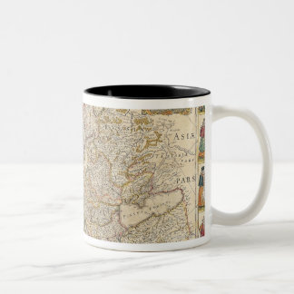 Map of Europe 6 Two-Tone Coffee Mug