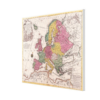 Map of Europe 7 Canvas Print