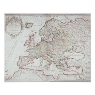 Map of Europe 7 Poster