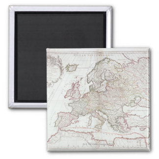 Map of Europe 7 Square Magnet