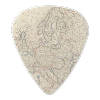 Map of Europe Acetal Guitar Pick