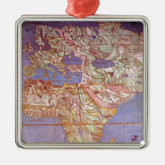Map of Europe and Africa Christmas Ornament