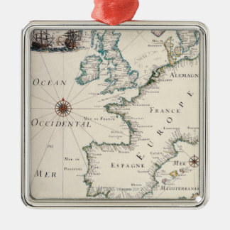 Map of Europe Christmas Ornament