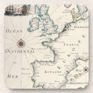 Map of Europe Coaster