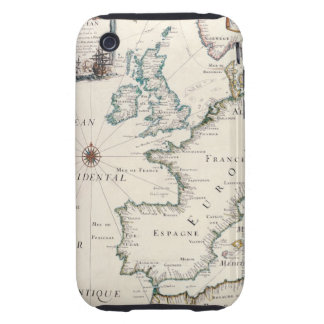 Map of Europe iPhone 3 Tough Covers