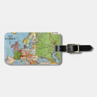 Map of Europe Luggage Tag