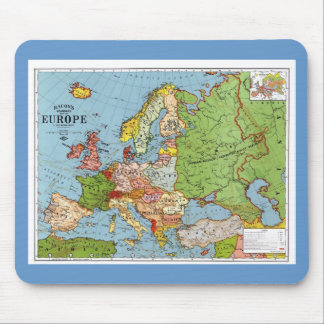 Map of Europe Mouse Mat