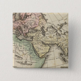 map of Europe, Northern Africa and Southeast Asia 15 Cm Square Badge