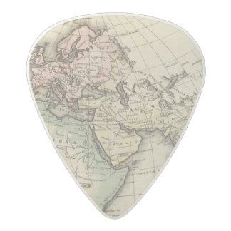 map of Europe, Northern Africa and Southeast Asia Acetal Guitar Pick
