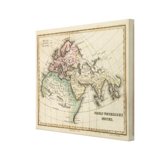 map of Europe, Northern Africa and Southeast Asia Canvas Print