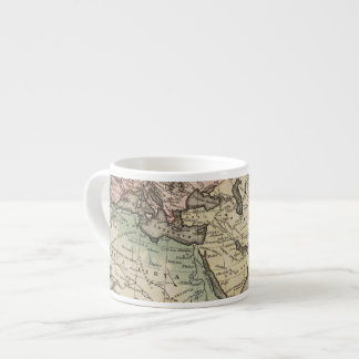 map of Europe, Northern Africa and Southeast Asia Espresso Cup