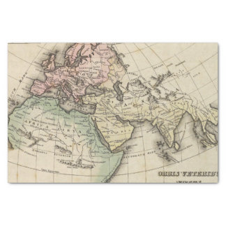 map of Europe, Northern Africa and Southeast Asia Tissue Paper