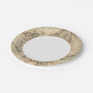 Map of Europe Paper Plate