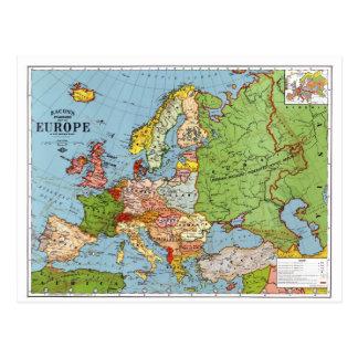 Map of Europe Postcard