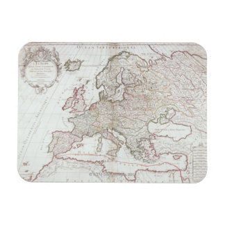 Map of Europe Rectangular Photo Magnet