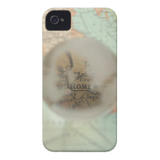 Map of Europe seen through crystal ball 2 iPhone 4 Covers