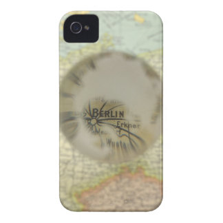 Map of Europe seen through crystal ball 3 iPhone 4 Case-Mate Case