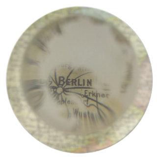 Map of Europe seen through crystal ball 3 Plate
