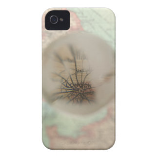 Map of Europe seen through crystal ball 4 iPhone 4 Covers