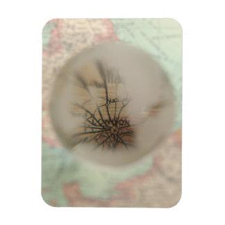 Map of Europe seen through crystal ball 4 Rectangular Photo Magnet