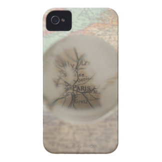 Map of Europe seen through crystal ball 5 iPhone 4 Case-Mate Cases