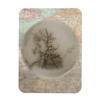 Map of Europe seen through crystal ball 5 Rectangular Photo Magnet