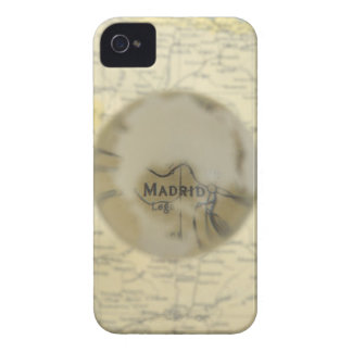 Map of Europe seen through crystal ball iPhone 4 Cases