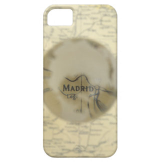 Map of Europe seen through crystal ball iPhone 5 Cover