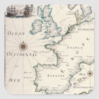 Map of Europe Square Sticker