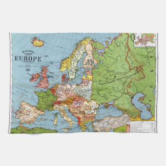 Map of Europe Tea Towel