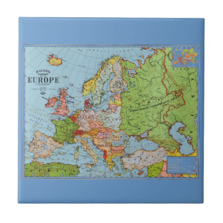 Map of Europe Tile