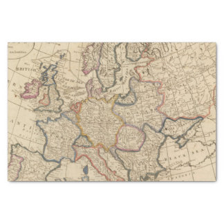 Map of Europe Tissue Paper
