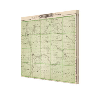 Map of Faribault County, Minnesota Canvas Print
