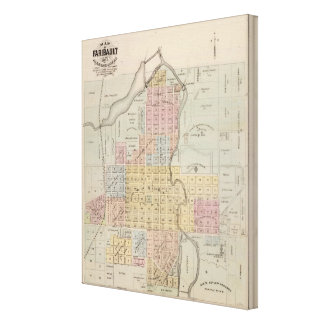 Map of Faribault, Rice County, Minnesota Canvas Print