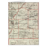 Map of Fayette County, Mt Vernon and McLeansboro Greeting Card
