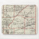 Map of Fayette County, Mt Vernon and McLeansboro Mouse Pad