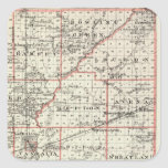 Map of Fayette County, Mt Vernon and McLeansboro Square Sticker