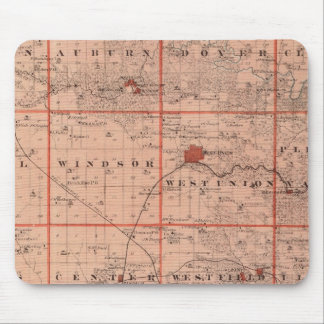 Map of Fayette County, State of Iowa Mouse Mat