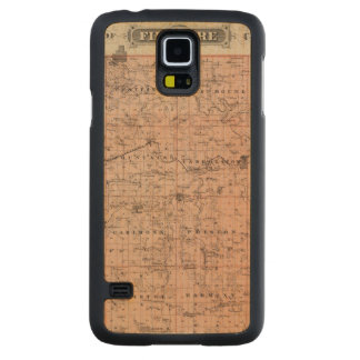 Map of Fillmore County, Minnesota Carved Maple Galaxy S5 Case