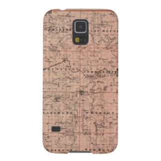 Map of Fillmore County, Minnesota Galaxy S5 Cases