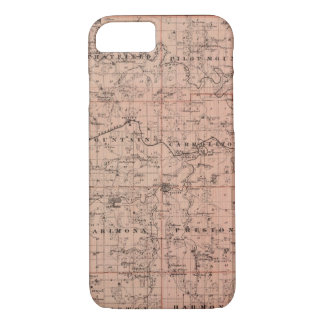 Map of Fillmore County, Minnesota iPhone 8/7 Case