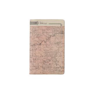 Map of Fillmore County, Minnesota Pocket Moleskine Notebook
