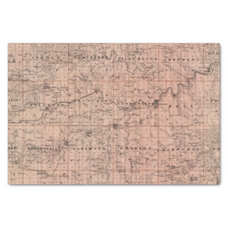 Map of Fillmore County, Minnesota Tissue Paper
