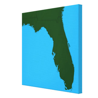 Map of Florida 3 Canvas Print