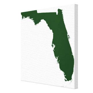 Map of Florida Canvas Print