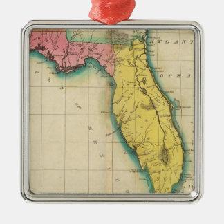 Map Of Florida Christmas Ornament