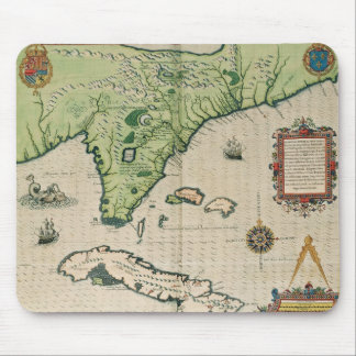Map of Florida, from 'Brevis Narratio' Mouse Mat