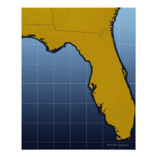 Map of Florida Poster